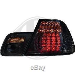 1214996, Paire de feux arriere noir pour BMW SERIE 3 Coupe de type E46 de 1999