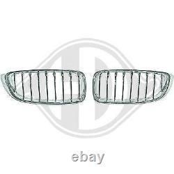 1245240, Paire de grilles de calandre chrome pour BMW Serie 4 de type F32 / 33