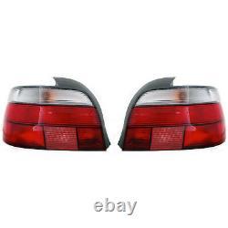 2 Feux Arriere Bmw Serie 5 E39 Berline 11/1995-8/2000 Conducteur Passager Blanc