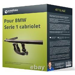Attelage pour BMW Serie 1 cabriolet type E88 démontable sans outil Westfalia ABE