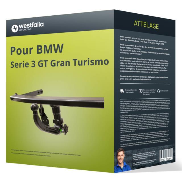 Attelage Pour Bmw Serie 3 Gt Gran Turismo Type F34 Amovible Westfalia Top