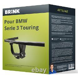 Attelage pour BMW Serie 3 Touring type E91 démontable avec outil Brink TOP