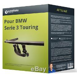 Attelage pour BMW Serie 3 Touring type E91 démontable sans outil Westfalia TOP