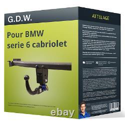 Attelage pour BMW serie 6 cabriolet type E64 démontable sans outil G. D. W. TOP