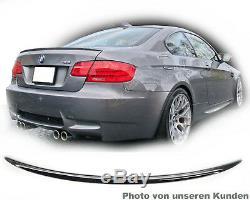 BMW Série 3 E92 SPOILER AILERON QUEUE TYPE M Aile peint Charbon Noir lèvre