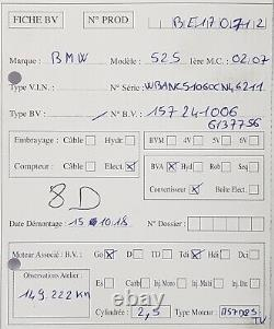 Boite vitesse auto BMW Serie 5 E60 / E61 525d 165ch Type 6HP26 149 222kms