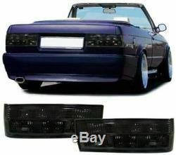 Feux arrière noir finition fumé feux arrière pour BMW Série 3 Type E30 à