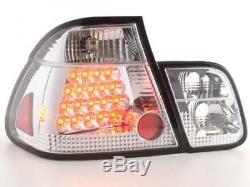 LED Feux arrieres pour BMW Serie 3 Limousine (type E46) annee 01-05, chrome