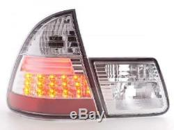 LED Feux arrieres pour BMW Serie 3 Touring (type E46) annee 98-05, chrome - a