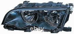 Phare Avant Droite Pour BMW Serie 3 e46 Coupe 2001 Au 2003 Noir