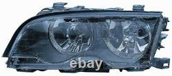 Phare Avant Gauche Pour BMW Serie 3 e46 1999-2003 Halogène Noir