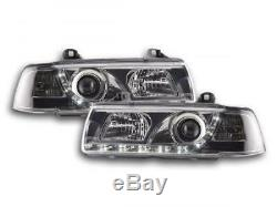 Phares Daylight set pour BMW Serie 3 Limo (type E36) annee 92-98 chrome