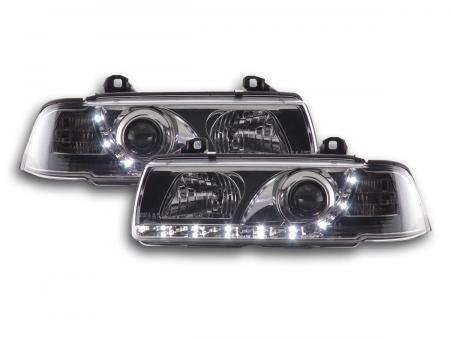 Phares Daylight Set Pour Bmw Serie 3 Coupe (type E36) Annee 92-98 Chrome