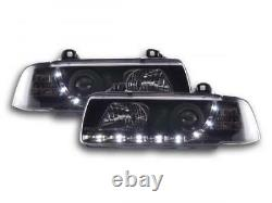 Phares Daylight set pour BMW Serie 3 coupe (type E36) annee 92-98 noir