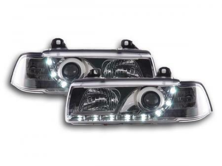 Phares Daylight Set Pour Bmw Serie 3 (type E36) Coupe/cabrio Annee 92-98, Chrome