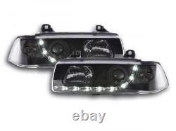 Phares Daylight set pour BMW Serie 3 (type E36) coupe/Cabrio annee 92-98, noir