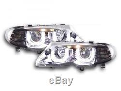 Phares Daylight set pour BMW Serie 3 (type E46) Limo/Touring annee 02-05, chrome