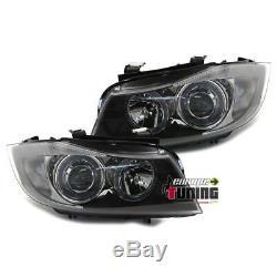 Phares Tuning Feux Avants Angel Eyes Bmw Serie 3 Type E90 E91 (00602)