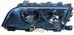 Projecteur Phare Avant dx pour BMW Serie 3 E46 1998 Au 2001 Noir