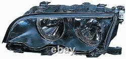 Projecteur Phare Avant dx pour BMW Serie 3 E46 Coupe 2001 Au 2003 Noir