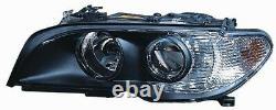 Projecteur Phare Avant dx pour BMW Serie 3 E46 Coupe 2003 Au 2006 Noir Fr. Bian