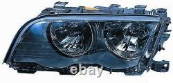 Projecteur Phare Avant sx pour BMW Serie 3 E46 1998 Au 2001 Noir