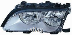 Projecteur Phare Avant sx pour BMW Serie 3 E46 2001 Au 2004 Chrome