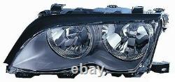 Projecteur Phare Avant sx pour BMW Serie 3 E46 2001 Au 2004 Noir