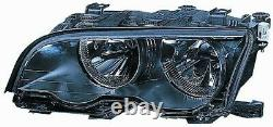 Projecteur Phare Avant sx pour BMW Serie 3 E46 Coupe 2001 Au 2003 Noir