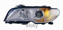 Projecteur Phare Avant sx pour BMW Serie 3 E46 Coupe 2003 Au 2006 Chrome Fr