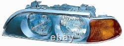 Projecteur Phare Avant sx pour BMW Serie 5 E39 1995 Au 2000 HB3/H7 Orange