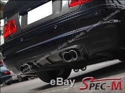 Type V Complet Fibre de Carbone Diffuseur Lèvre pour 01-06 BMW E46 3-Series M3